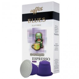 Капсулы для кофемашин NESPRESSO, По-ирландски, натуральный кофе, BLUES, 10 шт. х 5 г, 4600696101058