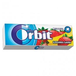 Жевательная резинка ORBIT (Орбит) Клубника-банан, 10 подушечек, 13,6 г, 42203100