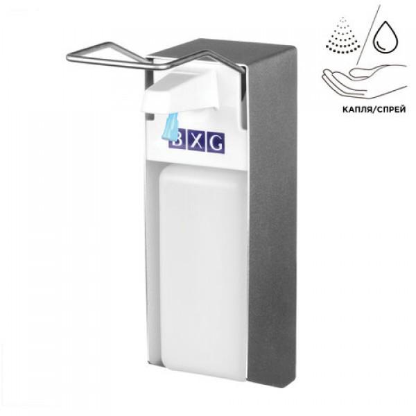 Диспенсер локтевой для жидкого мыла и антисептика НАЛИВНОЙ, 1 л, с еврофлаконом, BXG, ESD-1000