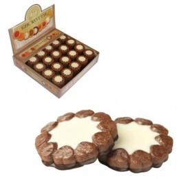 Печенье БИСКОТТИ (Россия) Ноттэ, шоколадное с кремом, глазированное, сдобное, 2 кг, шоу-бокс