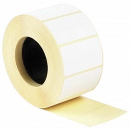 Этикетка термотрансферная ПОЛУГЛЯНЕЦ (43х25 мм), 1000 этикеток в ролике, 52199
