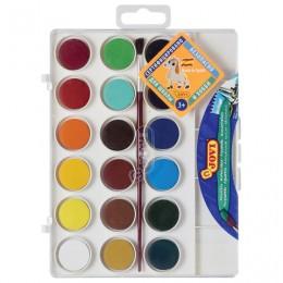 Краски акварельные JOVI (Испания), 18 цветов, с кистью, пластиковая коробка, европодвес, 800/18