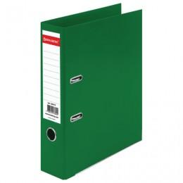 Папка-регистратор BRAUBERG EXTRA, 75 мм, зеленая, двустороннее покрытие пластик, металлический уголок, 228573