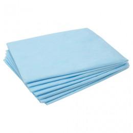 Простыни ЧИСТОВЬЕ нестерильные, комплект 50 шт., 80х100 см, СМС 14 г/м2, голубые, 00-975