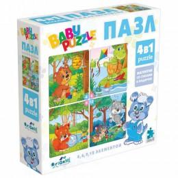 Пазл BABY PUZZLE Для мальчиков, 4 в 1, 4-6-9-12 элементов, ORIGAMI, 04893