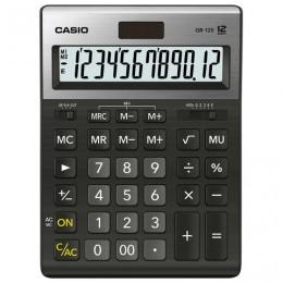 Калькулятор CASIO настольный GR-120-W, 12 разрядов, двойное питание, 210х155 мм, черный, металлическая верхняя панель, GR-120-W-EP