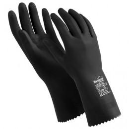 Перчатки латексные MANIPULA КЩС-2, ультратонкие, размер 7-7,5 (S), черные, L-U-032