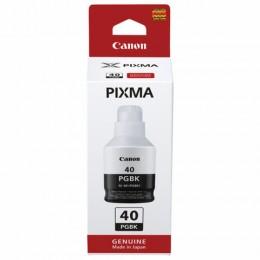 Чернила CANON (GI-40BK) для СНПЧ Pixma G5040/G6040/GM2040, черные, ресурс 6000 стр, оригинальные, 3385C001