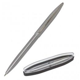 Ручка бизнес-класса шариковая BRAUBERG Ballet, СИНЯЯ, корпус серебристый с хромированными деталями, линия письма 0,5 мм, 143480