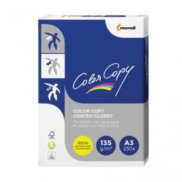 Бумага COLOR COPY GLOSSY, мелованная, глянцевая, А3, 135 г/м2, 250 л., для полноцветной лазерной печати, А++, Австрия, 138% (CIE), A3-7709