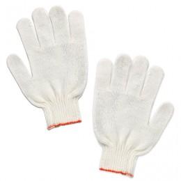 Перчатки хлопчатобумажные ЛАЙМА СТАНДАРТ, комплект 5 пар, без ПВХ, 7,5 класс, 36-38 г, 166 текс, белые, 600804