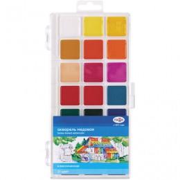 Краски акварельные ГАММА Классическая, 21 цв., медовая, без кисти, пластиковый корпус, европодвес, 216020