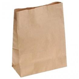 Крафт пакет бумажный 26х15х34 см, плотность 70 г/м2, 606867
