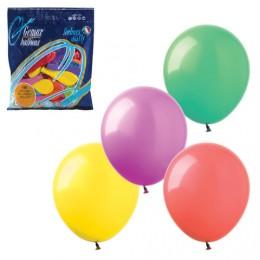 Шары воздушные 7 (18 см), комплект 100 шт., 12 пастельных цветов, в пакете, 1101-0022