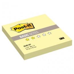 Блок самоклеящийся (стикер) POST-IT Basic, 76х76 мм, 100 л., желтый, 654R-BY