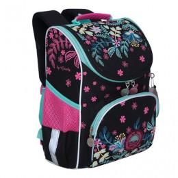 Ранец GRIZZLY школьный, с сумкой для обуви, анатомическая спинка, Ночь, 33x25x13см, RAm-084-2 /1