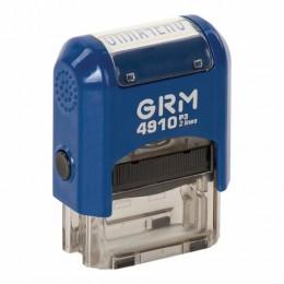 Штамп стандартный ОПЛАЧЕНО, оттиск 26х9 мм, синий, GRM 4910_Р3