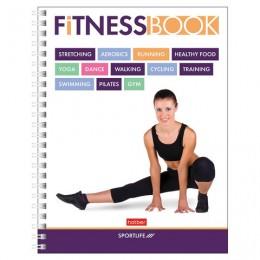 Дневник для фитнеса, А5, 96 листов, гребень, глянцевая ламинация, HATBER, Sportlife, 96ФДс5лВ5гр_19224