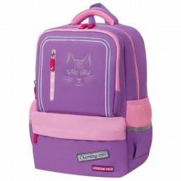 Рюкзак BRAUBERG STAR, Cheshire cat, сиреневый, 40х29х13 см, 229976