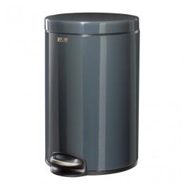 Ведро-контейнер для мусора (урна) с педалью DURABLE (Германия), 12 л, темно-серое, 3411-58