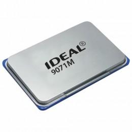 Штемпельная подушка TRODAT IDEAL (90*56 мм), металлическая, синяя, 9071Мс, 153125