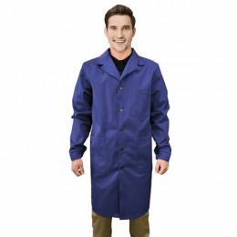 Халат рабочий мужской синий, бязь, размер 48-50, рост 170-176, плотность ткани 142 г/м2, 610816