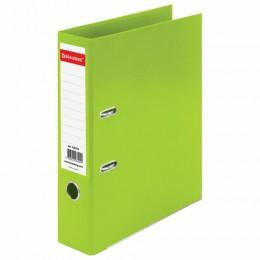 Папка-регистратор BRAUBERG EXTRA, 75 мм, салатовая, двустороннее покрытие пластик, металлический уголок, 228576