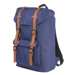 Рюкзак BRAUBERG молодежный с отделением для ноутбука, Кантри, синий, 41х28х14 см, 227083