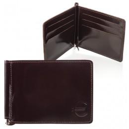 Зажим для купюр BEFLER Classic, натуральная кожа, тиснение, 120х86 мм, коричневый, Z.6.-1