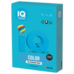 Бумага IQ color БОЛЬШОЙ ФОРМАТ (297х420 мм), А3, 80 г/м2, 500 л., интенсив, светло-синяя, AB48