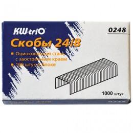 Скобы для степлера KW-trio № 24/8, 1000 штук, в картонной коробке, до 50 листов, -0248