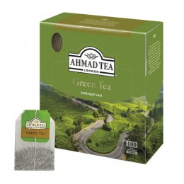 Чай AHMAD (Ахмад) Green Tea, зеленый, 100 пакетиков по 2 г, 478i-08