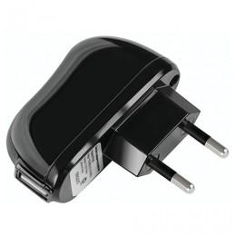 Зарядное устройство сетевое (220 В) DEPPA, 1 порт USB, выходной ток 2,1 А, черное, 23139