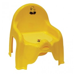 Горшок-стульчик детский, горшок-вкладыш, пластиковый, 30х26х35 см, желтый, IDEA, М 2596