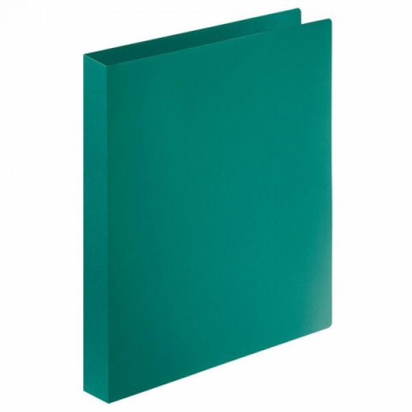 Папка на 4 кольцах STAFF, 30 мм, зеленая, до 250 листов, 0,5 мм, 229247