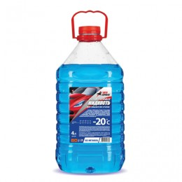 Жидкость незамерзающая 4 л, AUTO EXPRESS, до -20°С, на основе изопропилового спирта (безопасная), ПЭТ, AE1120