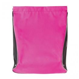 Сумка для обуви BRAUBERG для девочек, суперплотная, увеличеннный объем, черная/малиновая, 44х37 см, 225506