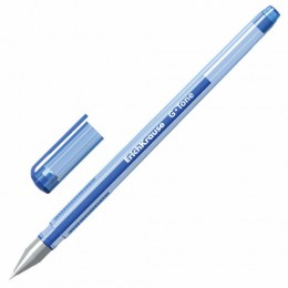 Ручка гелевая ERICH KRAUSE G-Tone, СИНЯЯ, корпус тонированный синий, узел 0,5 мм, линия письма 0,4 мм, 17809