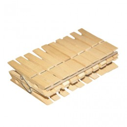 Прищепки бельевые деревянные, комплект 20 шт., универсальные, YORK
