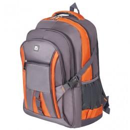Рюкзак BRAUBERG SpeedWay 2, 25 л, размер 46х32х19 см, ткань, серо-оранжевый, 224448