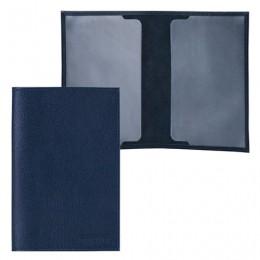 Обложка для паспорта FABULA Largo, натуральная кожа, тиснение Passport, синяя, O.1.LG