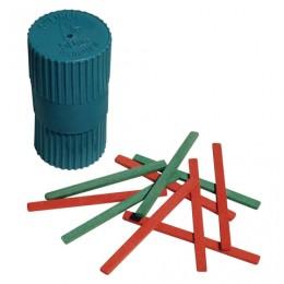 Счетные палочки (50 штук) двухцветные, из натурального дерева, в пластиковом тубусе, С 21