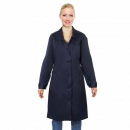 Халат технолога женский синий, смесовая ткань, размер 44-46, рост 158-164, плотность ткани 200 г/м2, 610774