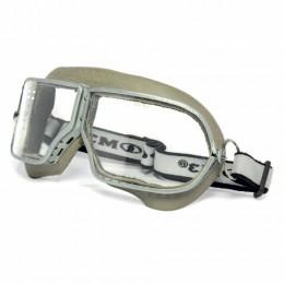 Очки защитные закрытые РОСОМЗ ЗП1 Patriot, прозрачные, прямая вентиляция, металлический держатель в корпусе из резины, минеральные стекла, 30110