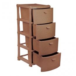 Комод универсальный 4 секции, габариты в сборе 96х40х50 см, коричневый,