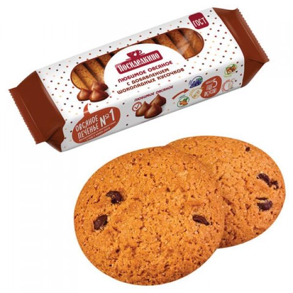 Печенье овсяное ПОСИДЕЛКИНО с шоколадными кусочками, 310 г, 51321450