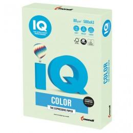 Бумага IQ color БОЛЬШОЙ ФОРМАТ (297х420 мм), А3, 80 г/м2, 500 л., пастель, светло-зеленая, GN27