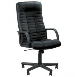 Кресло офисное Atlant, кожа, черное
