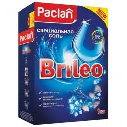 Соль от накипи в посудомоечных машинах 1 кг PACLAN Brileo, 419150