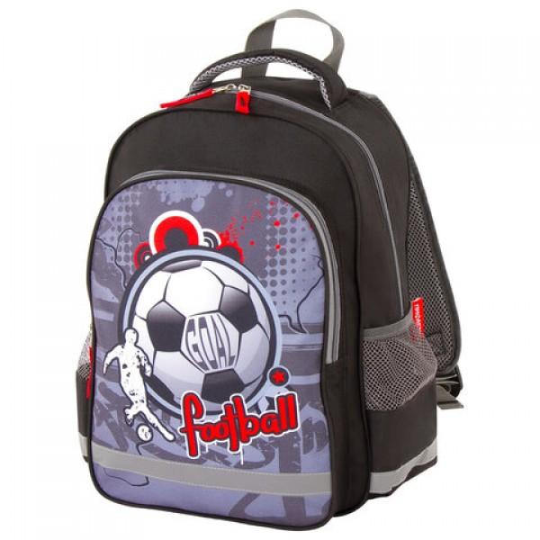 Рюкзак ПИФАГОР SCHOOL для начальной школы, Football, 38х28х14 см, 228821